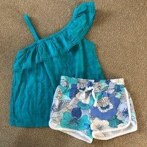 Gap Kids Hawaiian Shorts and Old Navy Top size 8